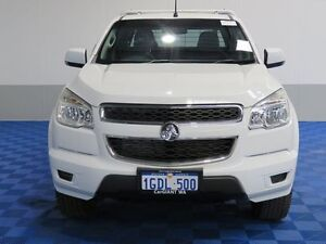 2012 Holden Colorado RG LT (4x4) White 5 Speed Manual Cab Chassis Jandakot Cockburn Area Preview