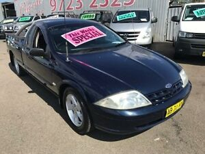 2002 Ford Falcon Auii XL Blue 5 Speed Manual Utility Lansvale Liverpool Area Preview