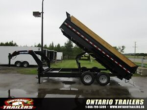 2016 Sure Trac Gooseneck 16 ft hydraulic dump $290.00 MONTHLY!