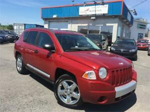 JEEP COMPASS LIMITED 2007 4CYL/ CUIR/ MAGS/ AC/ SIÈG. CHAUFFANTS