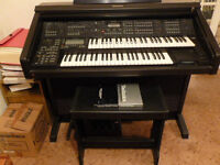 Technics SX GX5 Electric Organ with retractable cover and stool plus, manuals and learning programme