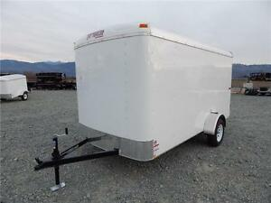 NEW 2018 6x12 ROUND TOP ENCLOSED CARGO TRAILER SIDE DOOR