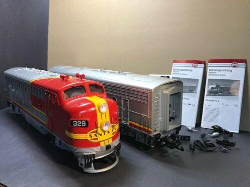 LGB 20570/20582 F7AB Santa Fe Diesels Factory MTS/DC/DCC Onboard Sound
