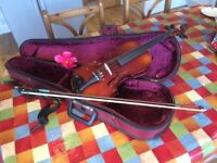 Used violin and hard-case - B&H 400 series