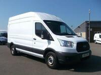 Ford Transit T350 LWB HIGH ROOF VAN TDCI 125PS VAN DIESEL MANUAL WHITE (2014)