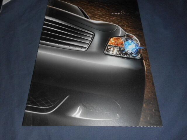 2009 Infinity G Sedan USA Market Brochure Catalog Prospekt