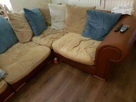 corner sofa brown/creme