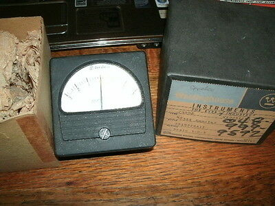 Vintage New Old Stock In Box Westinghouse 3-0-3  Dc Amperes Rx351 Ammeter Gauge