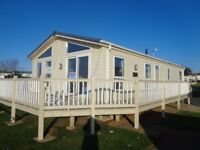 Huge lodge with massive decking attached for sale in Hunstanton