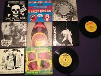 "10 x 7"" singles ep's MOSTLY PUNK"