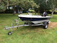 Cetus 9.5se Dory boat, 9.8 Tohatsu electric start and trailer with winch, excellent condition