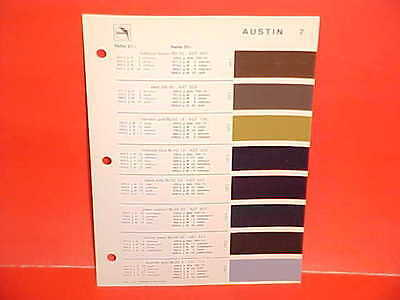1971 1972 AUSTIN 850 MINI COOPER S AMERICA BRITISH LEYLAND GLASURIT PAINT CHIPS