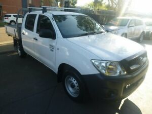 2010 Toyota Hilux TGN16R MY10 Workmate 4x2 White 5 Speed Manual Utility Merrylands Parramatta Area Preview