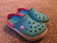 Girls croc band Crocs size 10-11 - Excellent condition