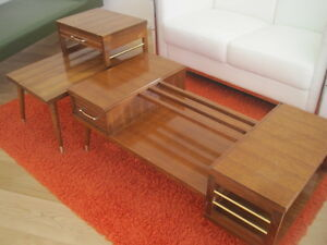 MCM Coffee Table and End Table Set