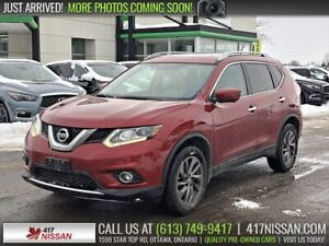 2016 Nissan Rogue SL AWD | Navi, Pano Moonroof, Leather Htd Seat