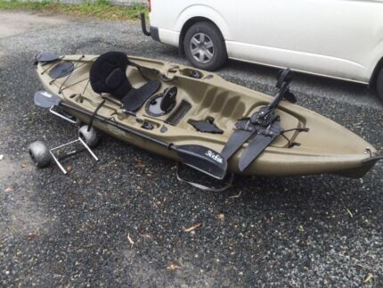 Hobie outback kayak with mirage drive peddle system Tea Tree Gully Tea Tree Gully Area Preview
