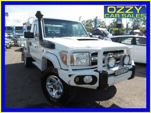 2008 Toyota Landcruiser VDJ79R GXL (4x4) White 5 Speed Manual Cab Chassis Penrith Penrith Area Preview
