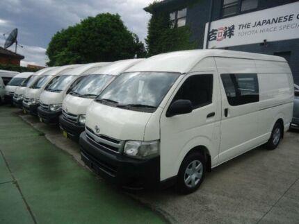 2013 Toyota Hiace KDH221R MY12 Upgrade SLWB White 4 Speed Automatic Van