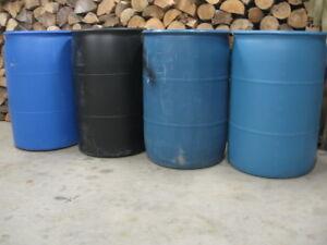 55 GAL PLASTIC BARRELS FOR BUILDING DOCKS ETC