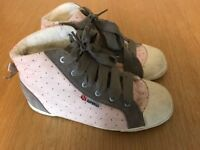 Selection of girls high tops size 1