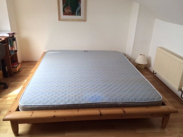 Ikea Hagali King Size Bed With Mattress In Bath