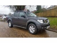 Nissan Navara 2.5 dCi Outlaw 4dr DOUBLE CAB LEATHER NO VAT 2005 GREY 178K
