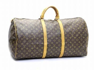 LOUIS VUITTON M41422 Monogram Keep All 60 Boston Travel Hand Bag Used