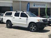 2006 Toyota Hilux KUN26R MY07 SR White 5 Speed Manual Cab Chassis East Brisbane Brisbane South East Preview