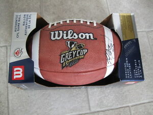 2002 GREY CUP CFL GAME BALL  - 90TH GREY CUP - EDMONTON