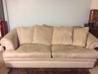 3 + 2 seater cream sofas