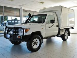2011 Toyota Landcruiser VDJ79R 09 Upgrade Workmate (4x4) White 5 Speed Manual Cab Chassis Morley Bayswater Area Preview