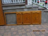 Portes d'armoires de cuisine en bois
