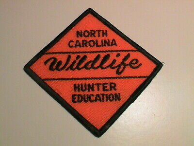 NORTH CAROLINA WILDLIFE SAFE HUNTER EDUCATION GUN HUNTING THIN LETTERS PATCH