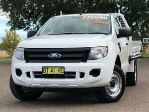 2013 Ford Ranger PX XL 4x2 White 5 Speed Manual Cab Chassis Hillvue Tamworth City Preview