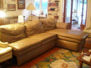Sectional Leather Sofa  BEST BID right now is $600
