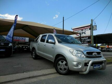 2010 Toyota Hilux GGN15R SR5 Silver 5 Speed Automatic Dual Cab Southport Gold Coast City Preview