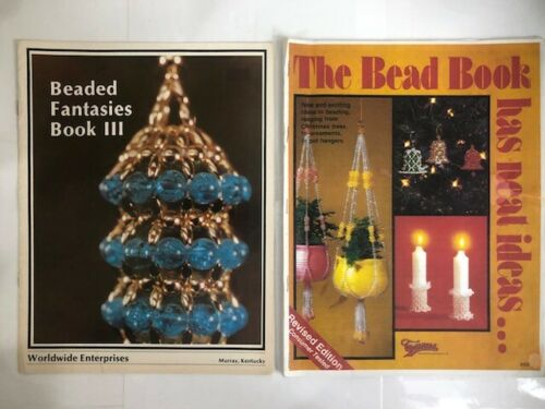 Lot 2 Vintage Bead Projects Beading Books Beaded Fantasies III 3 & The Bead Book