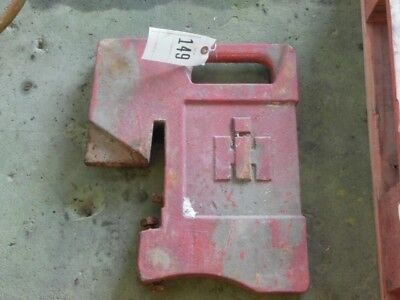 International Harvester Tractor 75 Lb. Suitcase Weight Part 383392r1 Tag 149