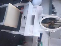 BRAND NEW WHITE DRESSING TABLE AND STOOL