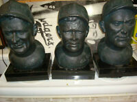 BABE RUTH LOU GEHRIG & TY COBB  SCULPTURED LTD EDTN BUSTS $3,250