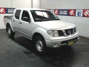 2011 Nissan Navara D40 MY11 RX (4x2) Silver 5 Speed Automatic Dual Cab Pick-up Cardiff Lake Macquarie Area Preview