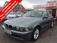 BMW 5 SERIES 2.5 525I SE 4d AUTO 190 BHP (green) 2002