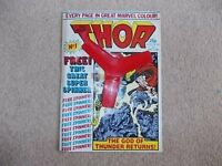 The Mighty Thor - a weekly Marvel comic from 1983. Issues 1 & 2 have the free gifts.