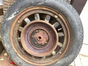 Vintage Dodge Truck Tire and Wood Rim Peterborough Peterborough Area image 6