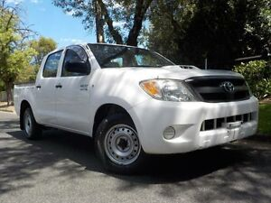 2008 Toyota Hilux KUN16R 07 Upgrade SR White 5 Speed Manual Dual Cab Pick-up Manningham Port Adelaide Area Preview