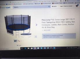 Brand new 10ft x 10ft MaxiJump trampoline