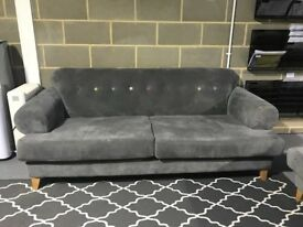DFS Grey 4 Seater Sofa with Arm Chair