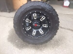 """18"""" worx beast 2 rims with copper discover stt tires"""