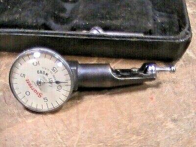 Vintage Working Starrett 711-f Last Word Dial Test Indicator Case